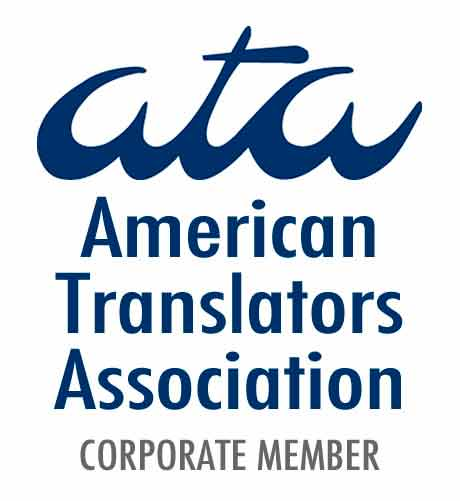 Certified translation ATA Corporate Member Logo